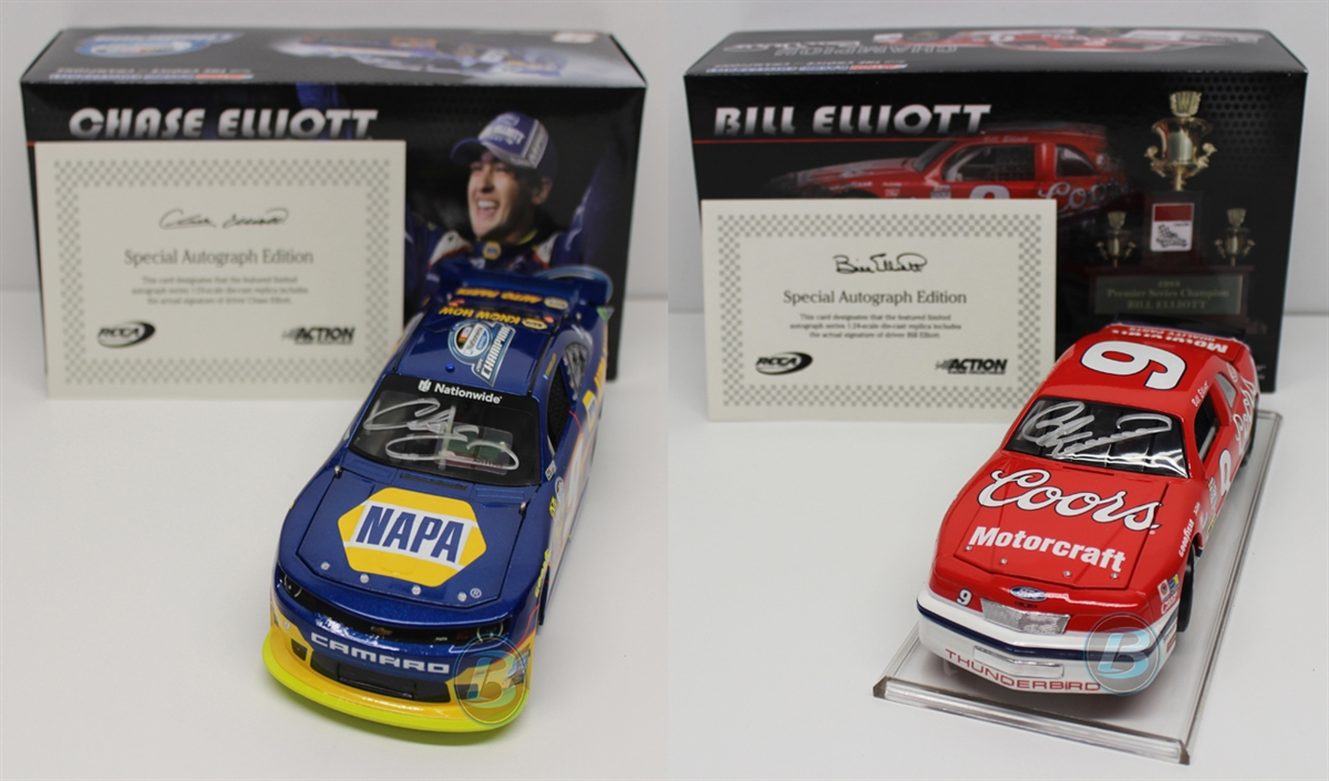 Chase Elliott Amp Bill Elliott Autographed Nascar Champions