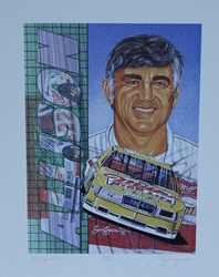 "1992 Bobby Allison Miller High Life Numbered Sam Bass Print 19.5"" X 15.5"" 1992 Bobby Allison Miller High Life Numbered Sam Bass Print 19.5"" X 15.5"""