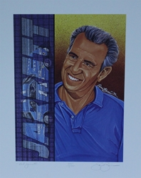"1992 Ned Jarrett Numbered Sam Bass Print 19.5"" X 15.5"" 1992 Ned Jarrett Numbered Sam Bass Print 19.5"" X 15.5"""