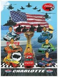 "2018 Charlotte Coca Cola 600 Program Cover Art Poster 18"" X 24"" Sam Bass, 2018 Charlotte Coca Cola 600 Program Cover Art Poster, Monster Energy Cup Series, Winston Cup,Poster, Awesome Bill, Chanpionship"