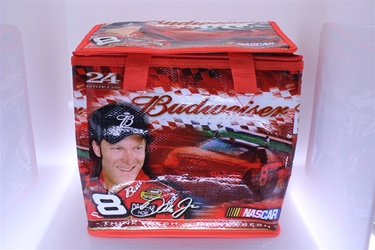 #8 Dale Earnhardt Jr. Budweiser Red Insulated Small Cooler NASCAR, DIECAST, TRINKET, GLASSWARE, STICKER, RC, DALE, EARNHARDT, JEFF GORDON, GORDON, DISCOUNT, CLEARANCE, HENDRICKS,