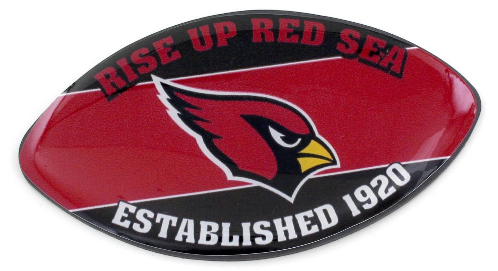 ARIZONA CARDINALS SLOGAN FOOTBALL MAGNET nfl, magnet, lanyard, licensed, keychain
