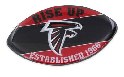 ATLANTA FALCONS SLOGAN FOOTBALL MAGNET nfl, magnet, lanyard, licensed, keychain