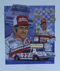 "Autographed Bobby Allison 1983 Winston Cup Champion  Sam Bass 25"" X 21"" Print W/ COA Sam Bass, Bobby Allison, Coca~Cola, Monster Energy Cup Series, Winston Cup, Print, Autographed Bobby Allison 1983 Winston Cup Champion  Sam Bass 25"" X 21"" Print W/ COA"