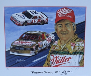 "Autographed Bobby Allison 1988 ""Daytona Sweep, 88""  Numbered Sam Bass Print 20"" X 24"" W /COA Autographed Bobby Allison 1988 ""Daytona Sweep, 88""  Numbered Sam Bass Print 20"" X 24"" W /COA"