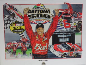 "Autographed Dale Earnhardt Jr ""Won & Done"" Numbered Sam Bass 27"" X 36"" Print w/ COA Sam Bass, Dale Earnhardt Jr, Dale Jr, Daytona, Monster Energy Cup Series, Winston Cup, Poster"