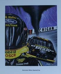 "Autographed Rusty Wallace ""Awesome When Opened Up!"" Original  Artist Proof Sam Bass Print 26"" X 23"" w/ COA Autographed Rusty Wallace ""Awesome When Opened Up!"" Original  Artist Proof Sam Bass Print 26"" X 23"" w/ COA"