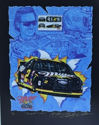 "Autographed Rusty Wallace "" Designed-2-Win "" Original Numbered Sam Bass Print 19"" X 25"" w/ COA Autographed Rusty Wallace "" Designed-2-Win "" Original Numbered Sam Bass Print 19"" X 25"" w/ COA"