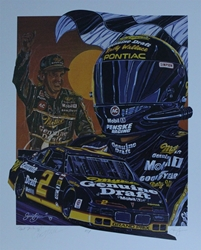 "Autographed Rusty Wallace "" Fast Thinking "" Original Artist Proof Sam Bass 27"" X 22"" Print w/ COA Autographed Rusty Wallace "" Fast Thinking "" Original Artist Proof Sam Bass 27"" X 22"" Print w/ COA"