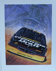 "Autographed Rusty Wallace "" Fire and Ice "" Original Artist Proof Sam Bass Print 23.5 X 30 W/ COA Autographed Rusty Wallace "" Fire and Ice "" Original Artist Proof Sam Bass Print 23.5 X 30"