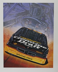 "Autographed Rusty Wallace Genuine Draft 92 Original Sam Bass Print 30"" X 23 W/COA Autographed Rusty Wallace Genuine Draft 92 Original Sam Bass Print 30"" X 23 W/COA"