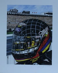 "Autographed Rusty Wallace "" Quick Thoughts "" Original Numbered Sam Bass Print 25"" X 21"" w/ COA Autographed Rusty Wallace "" Quick Thoughts "" Original Numbered Sam Bass Print 25"" X 21"" w/ COA"