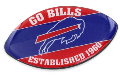 BUFFALO BILLS SLOGAN FOOTBALL MAGNET nfl, magnet, lanyard, licensed, keychain