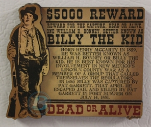 Billy The Kid American Outlaws Magnet Billy The Kid American Outlaws Magnet