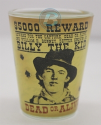 Billy The Kid American Outlaws Shotglass Billy The Kid American Outlaws Shotglass