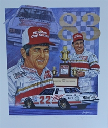"Bobby Allison 1983 Winston Cup Champion Numbered Sam Bass 25"" X 21"" Print Sam Bass, Bobby Allison, Coca~Cola, Monster Energy Cup Series, Winston Cup, Print, Bobby Allison 1983 Winston Cup Champion Numbered Sam Bass 25"" X 21"" Print"