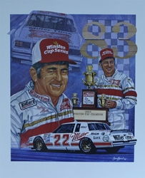 "Bobby Allison 1983 Winston Cup Champion Original Sam Bass 25"" X 21"" Print Sam Bass, Bobby Allison, Coca~Cola, Monster Energy Cup Series, Winston Cup, Poster"