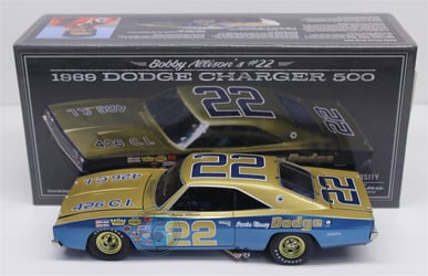 Bobby Allison Autographed #22 Brooks-Massey Dodge 1969 Dodge Charger 500 1:24 University of Racing Nascar Diecast Bobby Allison nascar diecast, diecast collectibles, nascar collectibles, nascar apparel, diecast cars, die-cast, racing collectibles, nascar die cast, lionel nascar, lionel diecast, action diecast, university of racing diecast, nhra diecast, nhra die cast, racing collectibles, historical diecast, nascar hat, nascar jacket, nascar shirt,historical racing die cast