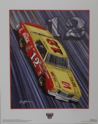 "Bobby Allison ""Real Thing!"" Numbered Sam Bass 25"" X 20"" Print Sam Bass, Bobby Allison, Coca~Cola, Monster Energy Cup Series, Winston Cup, Poster"