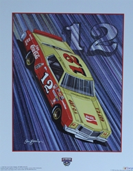 "Bobby Allison ""Real Thing!"" Original Sam Bass 25"" X 20"" Print Sam Bass, Bobby Allison, Coca~Cola, Monster Energy Cup Series, Winston Cup, Poster"