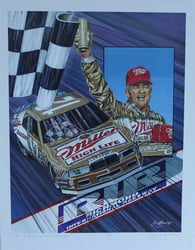 "Bobby Allison "" Rest Comes Shining Through ""  Original Artist Proof Sam Bass 23"" X 18"" Print Sam Bass, Bobby Allison, Coca~Cola, Monster Energy Cup Series, Winston Cup, Poster"