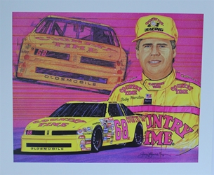 "Bobby Hamilton 1991 Country Time #68 Original Sam Bass 19"" X 23"" Print Bobby Hamilton 1991 Country Time #68 Original Sam Bass 19"" X 23"" Print"