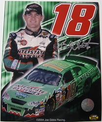 Bobby Labonte #18 Interstate Batteries 8 X 10 Photo #01 Bobby Labonte #18 Interstate Batteries 8 X 10 Photo