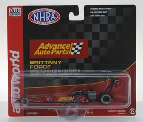 Brittany Force 2019 Advance Auto Parts 1:64 Top Fuel Dragster NHRA Diecast Brittany Force nascar diecast, diecast collectibles, nascar collectibles, nascar apparel, diecast cars, die-cast, racing collectibles, nascar die cast, lionel nascar, lionel diecast, action diecast, university of racing diecast, nhra diecast, nhra die cast, racing collectibles, historical diecast, nascar hat, nascar jacket, nascar shirt