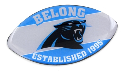 CAROLINA PANTHERS SLOGAN FOOTBALL MAGNET nfl, magnet, lanyard, licensed, keychain