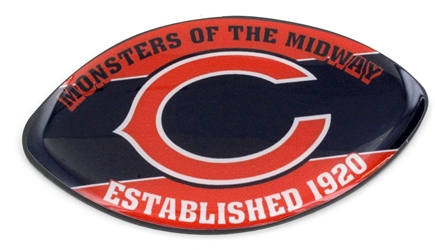 CHICAGO BEARS SLOGAN FOOTBALL MAGNET nfl, magnet, lanyard, licensed, keychain