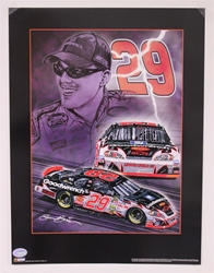 "Case of 25 - Kevin Harvick ""Knights of Thunder"" 18"" X 24"" Original 2006 Sam Bass Poster Sam Bass, Kevin Harvick, 2006, Monster Energy Cup Series, Winston Cup,Poster"