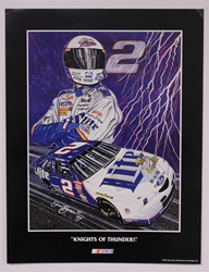 "Case of 25 - Rusty Wallace ""Knights of Thunder"" 17"" X 23"" Original 1997 Sam Bass Poster Sam Bass, Rusty Wallace, 1997, Monster Energy Cup Series, Winston Cup,Poster"