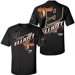 Chase Elliott Hooters Black Lifestyle Adult Tee Chase Elliott, shirt, nascar, hooters