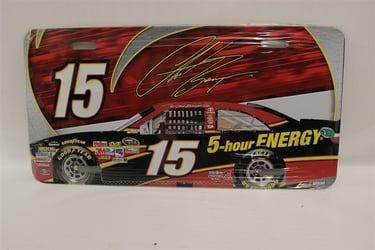 Clint Bowyer #15 5Hour Energy Red Car License Plate Clint Bowyer ,Red Car ,License Plate,R and R Imports,R&R