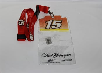 Clint Bowyer #15 Red Top Credential Holder and Lanyard Clint Boyer nascar diecast, diecast collectibles, nascar collectibles, nascar apparel, diecast cars, die-cast, racing collectibles, nascar die cast, lionel nascar, lionel diecast, action diecast, university of racing diecast, nhra diecast, nhra die cast, racing collectibles, historical diecast, nascar hat, nascar jacket, nascar shirt, R and R