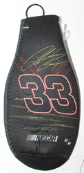 Clint Bowyer # 33 Black and Red Bottle Coozie Clint Boyer nascar diecast, diecast collectibles, nascar collectibles, nascar apparel, diecast cars, die-cast, racing collectibles, nascar die cast, lionel nascar, lionel diecast, action diecast,racing collectibles, historical diecast,coozie,hugger
