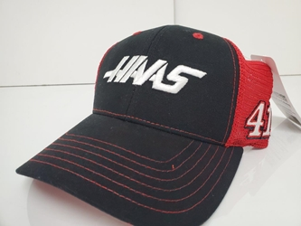 Cole Custer #41 Haas Black/Red Adult Sponsor Hat OSFM Cole Custer #41 Haas Black/Red Trucker Hat OSFM