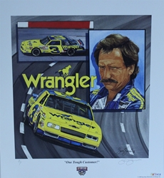 "Dale Earnhardt 1998 ""One Tough Customer"" Artist Proof Sam Bass 24"" X 22"" Print Dale Earnhardt 1998 ""One Tough Customer"" Artist Proof Sam Bass 24"" X 22"" Print"