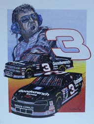 "Dale Earnhardt And Mike Skinner "" RCR ""  Numbered Sam Bass Print 21"" X 27"" Dale Earnhardt And Mike Skinner "" RCR ""  Numbered Sam Bass Print 21"" X 27"""