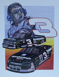 "Dale Earnhardt And Mike Skinner "" RCR "" Original Artist Proof Sam Bass Print 21"" X 27"" Dale Earnhardt And Mike Skinner "" RCR "" Original Artist Proof Sam Bass Print 21"" X 27"""