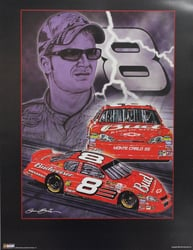 "Dale Earnhardt Jr ""Knights of Thunder"" 18"" X 24"" 2006 Sam Bass Print Dale Earnhardt Jr ""Knights of Thunder"" 18"" X 24"" 2006 Sam Bass Print"