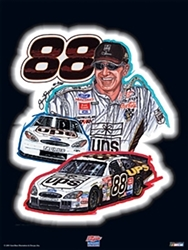 """Dale Jarrett"", Gallery Collection Sam Bass Poster 24"" X 18"" Sam Bas Poster"