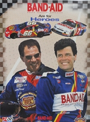 "Darrell & Michael Waltrip Band-Aid Poster "" 22"" x 16"" Darrell &Michael Waltrip Band-Aid Poster "" 22"" x 16"""