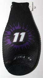 Denny Hamlin # 11 Purple and Black Bottle Coozie Denny Hamlin nascar diecast, diecast collectibles, nascar collectibles, nascar apparel, diecast cars, die-cast, racing collectibles, nascar die cast, lionel nascar, lionel diecast, action diecast,racing collectibles, historical diecast,coozie,hugger