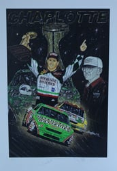 "Dual Autographed Bobby Labonte & Joe Gibbs ""Touchdown"" Numbered Sam Bass 31"" X 36"" Print w/ COA Dual Autographed Bobby Labonte & Joe Gibbs ""Touchdown"" Numbered Sam Bass 31"" X 36"" Print w/ COA"