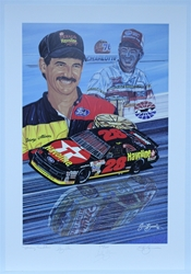 "Dual Autographed Davey & Bobby Allison ""Winning Tradition"" Numbered out of 600 Original Sam Bass 30"" X 21"" Print Sam Bass, Davey Allison, Bobby Allison, Monster Energy Cup Series, Winston Cup, Poster"