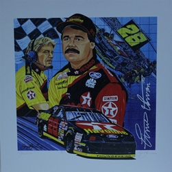 "Ernie  Irvan and Robert Yates "" Star Power "" Original Sam Bass Print 25"" X 25"" Earnie  Irvan and Robert Yates "" Star Power "" Original Sam Bass Print 25"" X 25"""