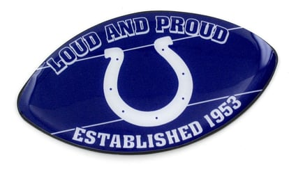 INDIANAPOLIS COLTS SLOGAN FOOTBALL MAGNET nfl, magnet, lanyard, licensed, keychain