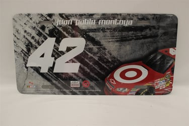 Juan Montoya #42 Target Burnout License Plate Juan Montoya,Burnout,License Plate,R and R Imports,R&R