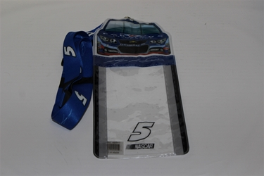 Kasey Kahne #5 Car Top Credential Holder and Lanyard Kasey Kahne nascar diecast, diecast collectibles, nascar collectibles, nascar apparel, diecast cars, die-cast, racing collectibles, nascar die cast, lionel nascar, lionel diecast, action diecast, university of racing diecast, nhra diecast, nhra die cast, racing collectibles, historical diecast, nascar hat, nascar jacket, nascar shirt, R and R